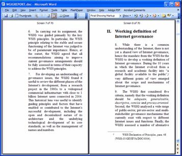 Exemplo de leitura de livro no Word